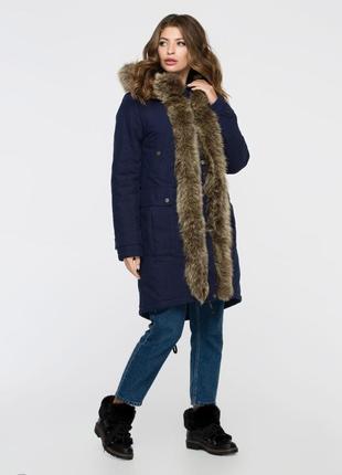 Куртка зимняя  синий 3073-17