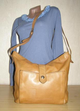 Большая кожаная сумка французкого бренда класса люкс lancel,  ...
