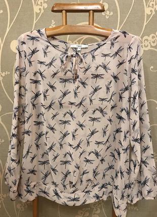 Нереально красивая и стильная брендовая блузка в стрекозах.