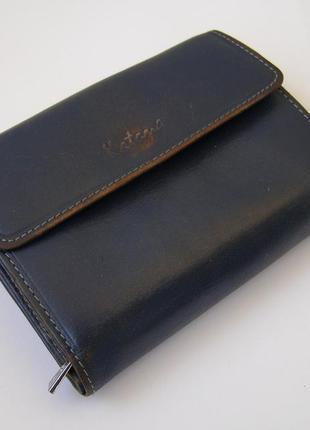 Вместительный кошелек + визитница из кожи katana, франция
