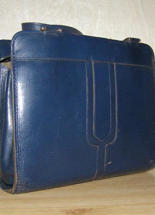 Винтажная сумочка с двумя ручками  из натуральной кожи