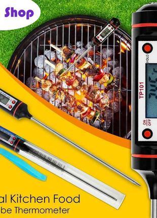 Кухонный термометр электронный со щупом (Градусник для еды и напи