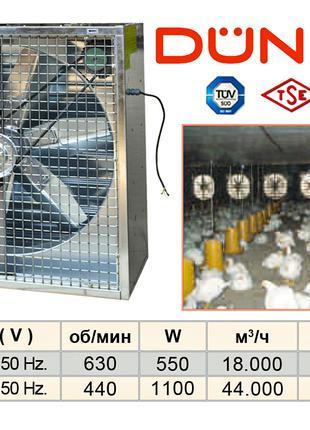 Осевые промышленные вентиляторы DUNDAR в корпусе серии KF