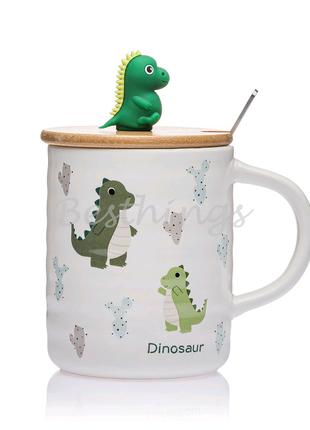 """Чашка с крышкой """"Динозаврик"""""""