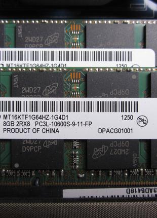 Оперативная память SODIMM DDR3L 8 gb для ноутбука Mac, Apple