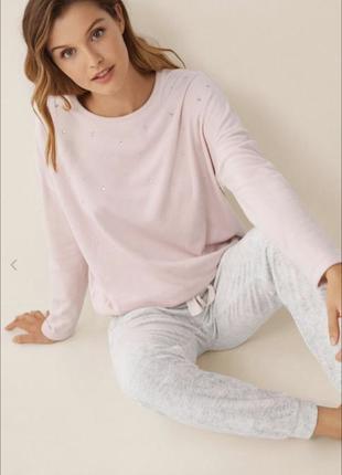 Тёплая нежная велюровая пижама Women'secret домашний костюм