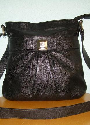 Кожаная сумка карман/планшетка colection debenhams made in india