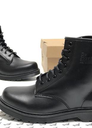 Чоловічі ботинки доктор мартінс весна-осінь чорні dr martens b...