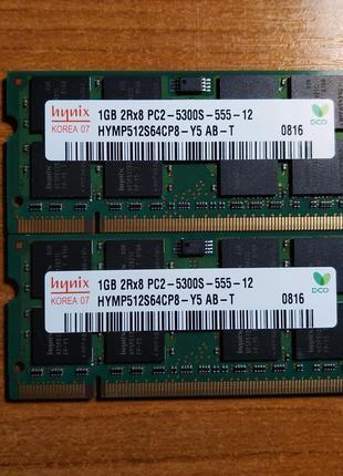 SODIMM DDR2 Hynix 2x1Gb PC2-5300S