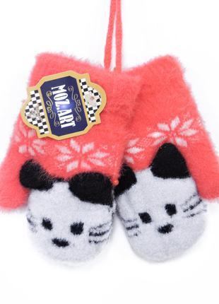 """Детские перчатки """"kitty"""" красные"""