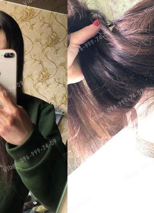 Парик система из натуральных волос коричневый, шоколад милировка