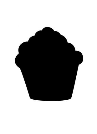 Доска меню в форме кекс, грифельная доска, доска для кафе