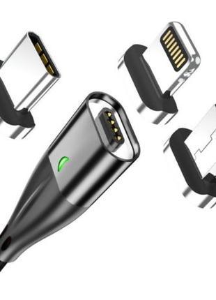 TOPK Магнитный кабель шнур зарядка+синхронизация плоский конне...
