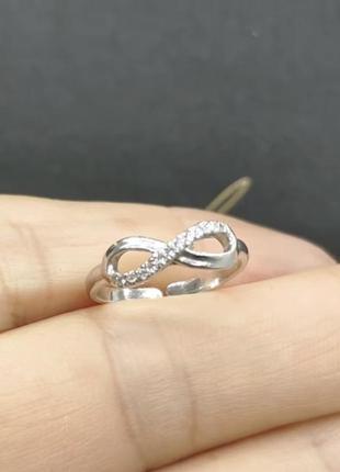 Кольцо серебро 925 на фалангу бесконечность 1588