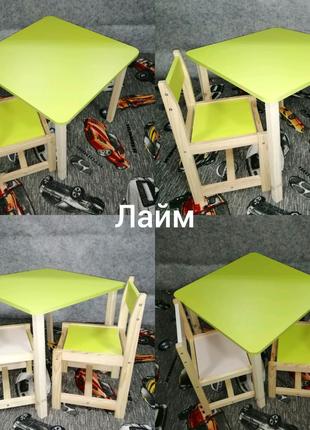 Комплект стол и стул. Детские столики. Детские стульчики
