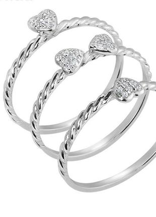Кольцо серебро 925 клевер на фалангу юм 103553