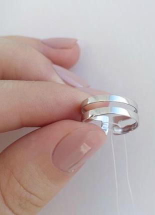 Кольцо серебро 925 на фалангу пружинка 1557