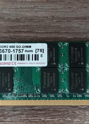 Оперативная память для ноутбука SO-DIMM 2Gb DDR2 PC2 6400 800MHz
