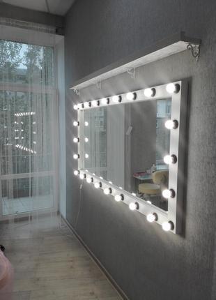 Зеркала с лампами, подсветкой