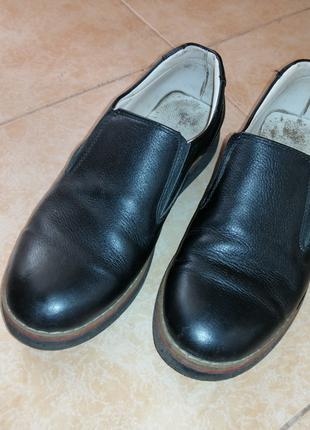 Кожаные туфли на мальчика 36 размер