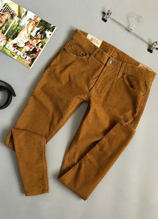Новые брендовые зауженные вельветовые брюки hollister (штаны, ...