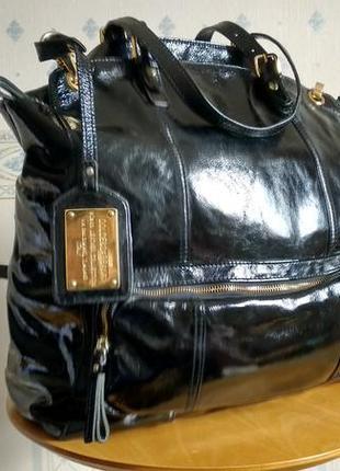 Большая кожаная сумка dolce gabbana italy