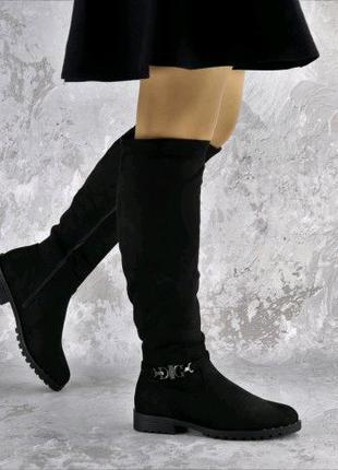 Ботфорты женские черные Maddie 2322