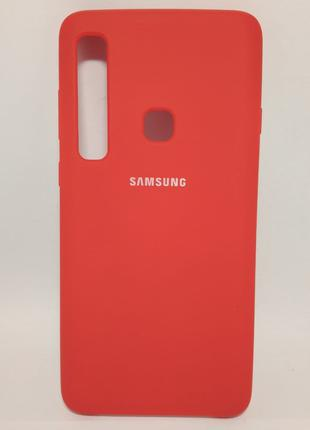 Задня накладка Samsung A920 Silicone Cover Red