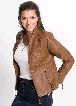 Новая кожаная куртка коллекции John Baner из эко-кожи
