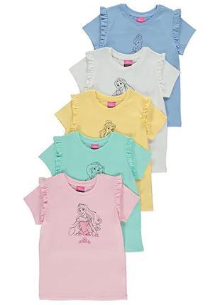 Хлопковые футболки george для девочек 2-3 лет
