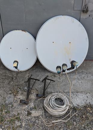 Спутниковое телевидение комплект / тюнер OPENBOX / две тарелки