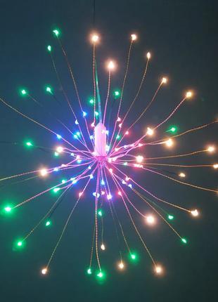 Светодиодный светильник RGB LED водонепроницаемый, на батарейках