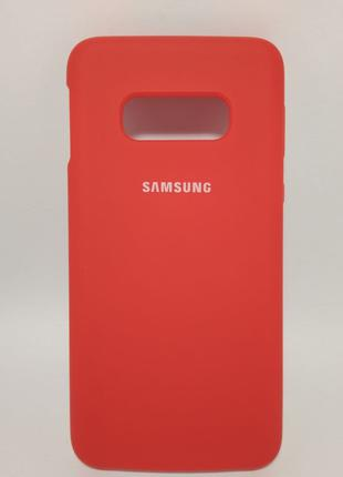 Задня накладка Samsung S10E Silicone Cover Red