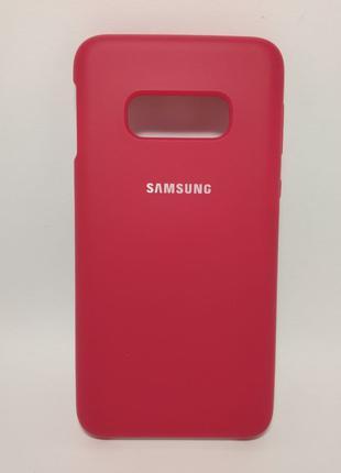 Задня накладка Samsung S10E Silicone Cover Bordo
