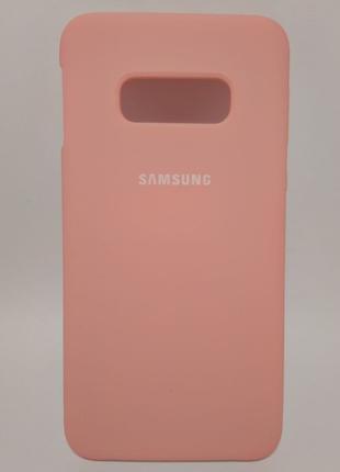 Задня накладка Samsung S10E Silicone Cover Pink