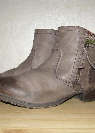 Модные теплые ботиночки от фирмы jana,40р, кожа+мех, комбинаци...