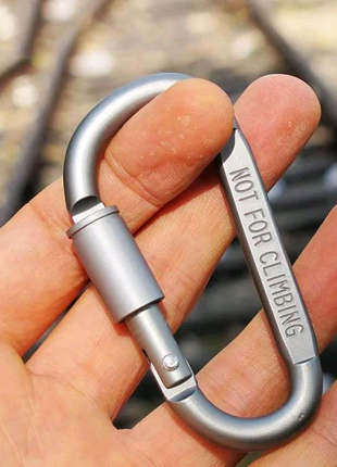 Алюминиевый карабин D-Ring