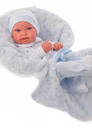 Кукла-младенец Эдуардо в голубом 42см, Antonio Juan 5005