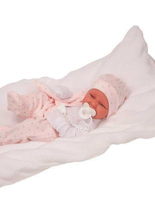 Кукла младенец Carla в розовом 42 см, Antonio Juan 5022