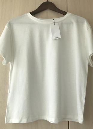Белая футболка mango oversize / m