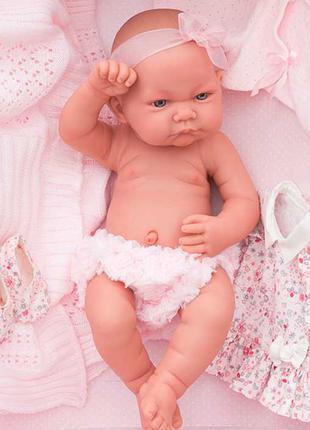 Кукла младенец Эльза в розовом 42 см, Antonio Juan Munecas 5073