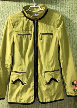 Женская удлиненная куртка, плащ, ветровка 40-42 размер xxs