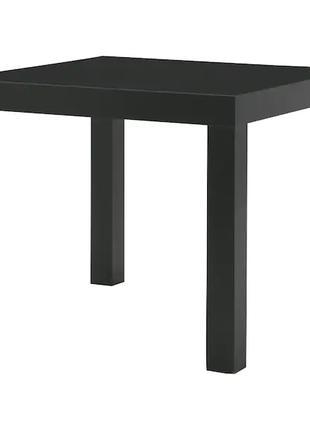 Журнальный столик IKEA черный 55x55см кофейный стол квадратный