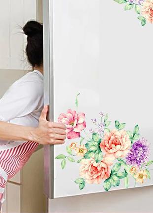 Интерьерная наклейка цветы