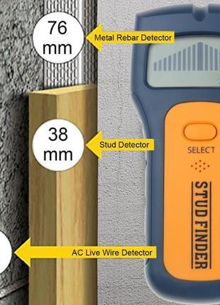 Детектор скрытой проводки металла дерева металлоискатель тесте...