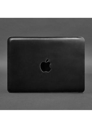 Чехол для Макбук, MасBook Pro 13, из натуральной кожи Crazy Horse