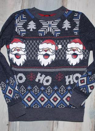 Новогодний свитер на 9-10 лет