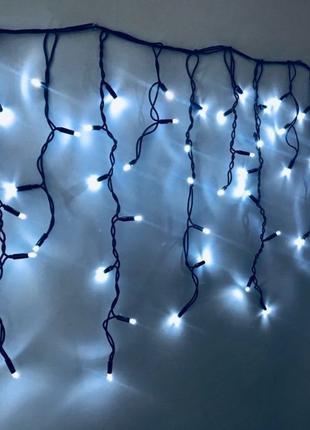 Внешняя LED гирлянда Бахрома 3метра Белый, 105лед белый провод...