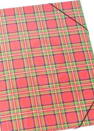 Папка картонная на резинке с лакированной цветной обложкой Шотлан