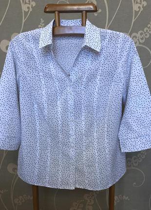 Очень красивая и стильная брендовая блузка в горошек.